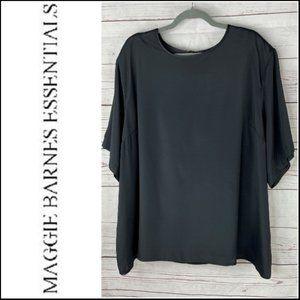 *3/$18*Maggie Barnes Women's Black Blouse Size 30W